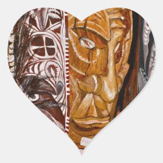 Papua New Guinea Masks Sticker