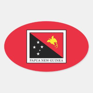Papua New Guinea Oval Sticker