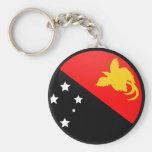 Papua New Guinea quality Flag Circle Keychains