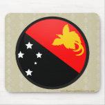 Papua New Guinea quality Flag Circle Mouse Pad