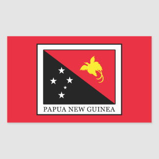Papua New Guinea Rectangular Sticker