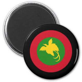 Papua New Guinea Roundel 2 Inch Round Magnet