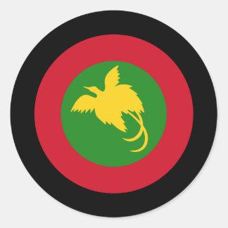 Papua New Guinea Roundel Classic Round Sticker