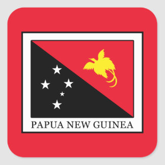 Papua New Guinea Square Sticker