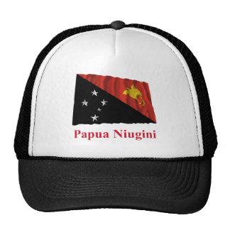 Papua New Guinea Waving Flag w Name in Tok Pisin Trucker Hat