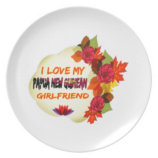 Papua New Guinean Girlfriend designs Party Plates