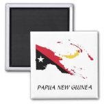 Papua NewGuine Flag Map Refrigerator Magnet