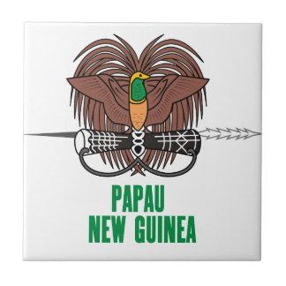 PAPÚA NUEVA GUINEA - emblema/bandera/escudo de arm Tejas Cerámicas