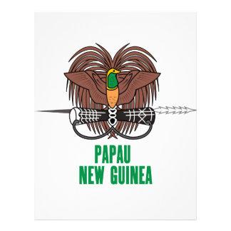 PAPÚA NUEVA GUINEA - emblema/bandera/escudo de arm Membrete