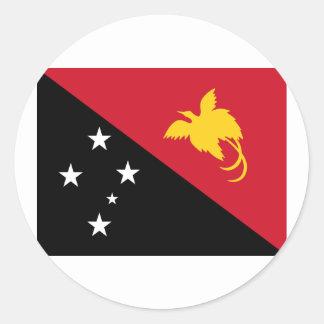 Papúa Nueva Guinea, Papúa Nueva Guinea Pegatina Redonda