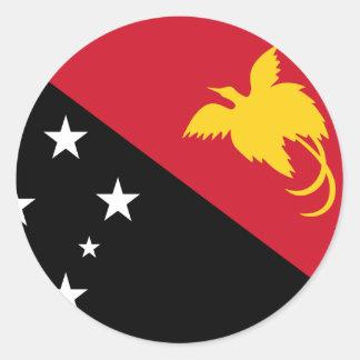 Papúa Nueva Guinea Pegatina Redonda