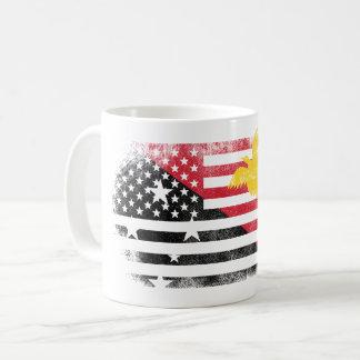 Papuan American Flag   Papua New Guinea and USA Coffee Mug