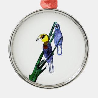Papuan Hornbill Birds Metal Ornament