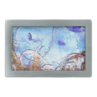 Papyrus and the mid-day sky. rectangular belt buckle