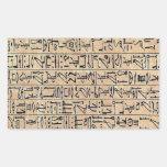 Papyrus Ani curs hiero book Rectangular Sticker