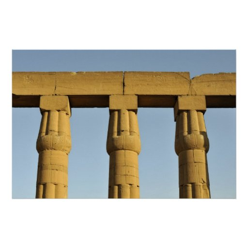Papyrus Columns at Luxor Temple, Egypt Poster