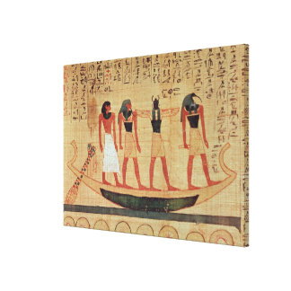 Papyrus depicting a man gallery wrapped canvas
