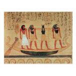 Papyrus depicting a man postcard