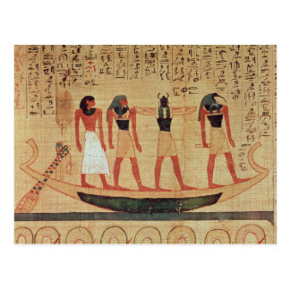 Papyrus depicting a man postcard