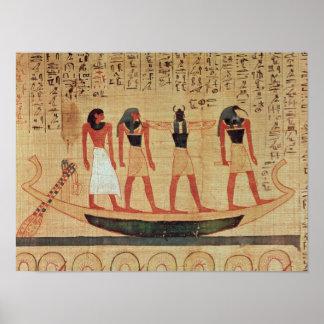 Papyrus depicting a man poster