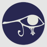 Papyrus Eye of Horus Round Stickers