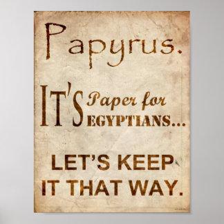 Papyrus Font Joke Poster