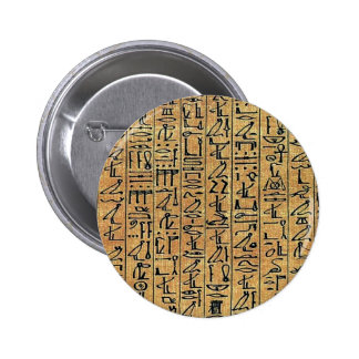 Papyrus Hieroglyphic Button