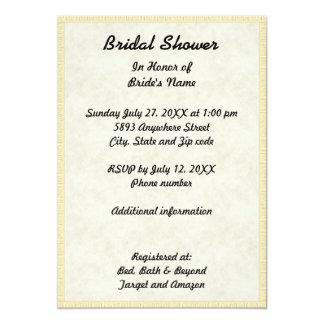 papyrus light tan paper image bridal shower invite - Papyrus Wedding Invitations
