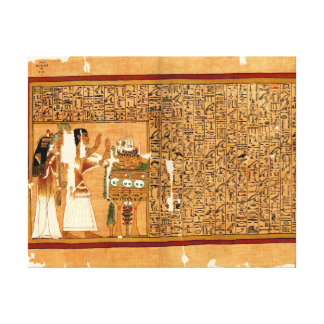 Papyrus of Ani - Book of the Dead Gallery Wrapped Canvas