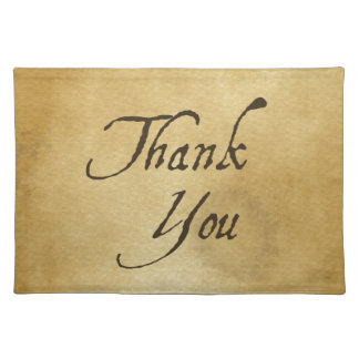 PAPYRUS PAPER THANK YOU HISTORIC EXPRESSIONS GRATI PLACEMAT