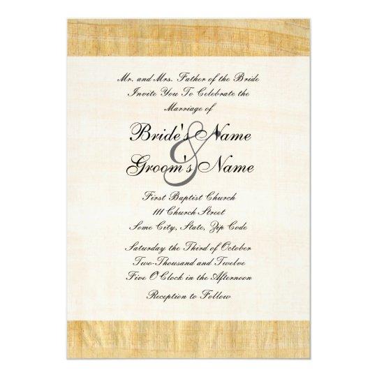 Paper For Wedding Invitation: Papyrus Paper Wedding Invitation