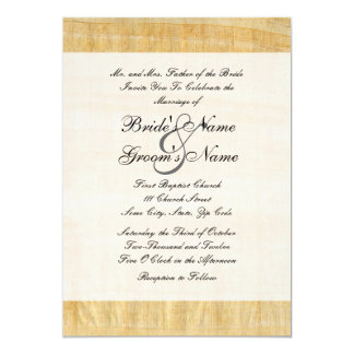 "Papyrus Paper Wedding Invitation 5"" X 7"" Invitation Card"