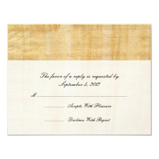 Papyrus Paper Wedding RSVP 4.25x5.5 Paper Invitation Card