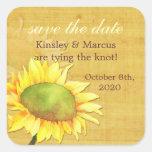 Papyrus Sunflower Cute Autumn Wedding Stickers
