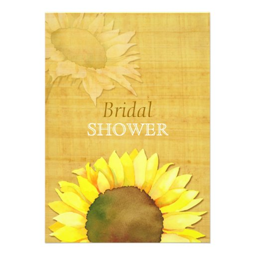 Papyrus Sunflower Rustic Fall Bridal Shower Invite