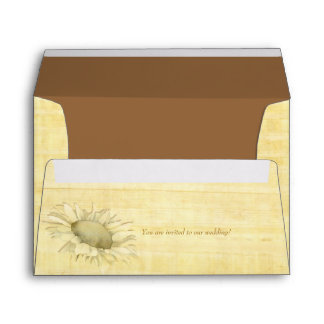 Papyrus Sunflower Wedding Invitation A7 Envelopes