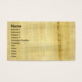 Papyrus Texture Business Card