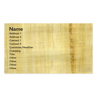 Papyrus Texture Double-Sided Standard Business Cards (Pack Of 100)