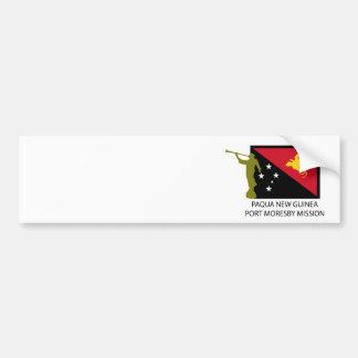 PAQUA NEW GUINEA  PORT MORESBY MISSION LDS CTR BUMPER STICKER