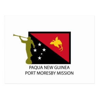 PAQUA NEW GUINEA  PORT MORESBY MISSION LDS CTR POSTCARD