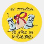 paques round sticker