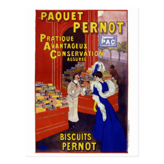 Paquet Pernot Vintage Advertising Poster Restored Postcard