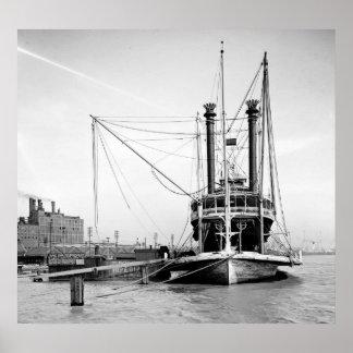 Paquete 1905 del río Misisipi Poster
