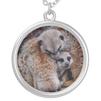 Paquete adorable de Meerkats de foto de la natural Colgante Redondo