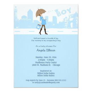 Paquete azul de invitación de la fiesta de invitación 10,8 x 13,9 cm