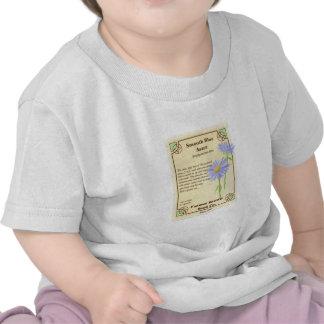 Paquete azul de la semilla del aster camiseta