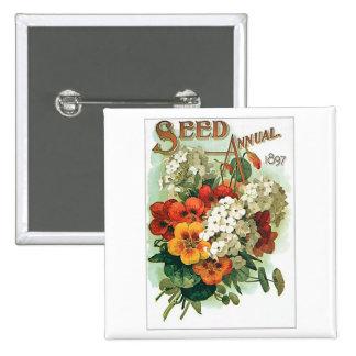 Paquete clasificado vintage de la semilla de flore pins