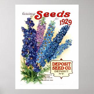 Paquete clasificado vintage de la semilla de los D Impresiones