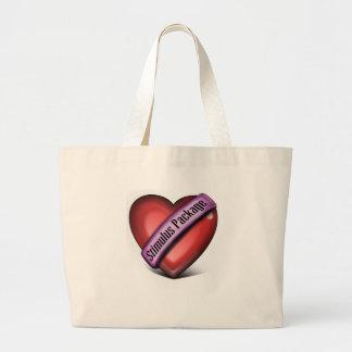Paquete de estímulo del corazón bolsas lienzo