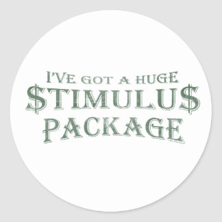 Paquete de estímulo enorme pegatina redonda